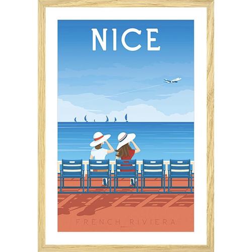 ou trouver deco chambre bord de mer poster illustration nice vintage