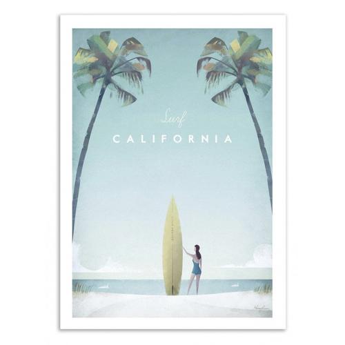 ou trouver deco chambre bord de mer décoration murale poster plage californie