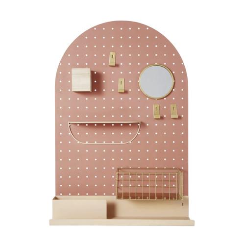 ou trouver deco chambre enfant colore pegboard deco murale bureau coiffeuse terracotta