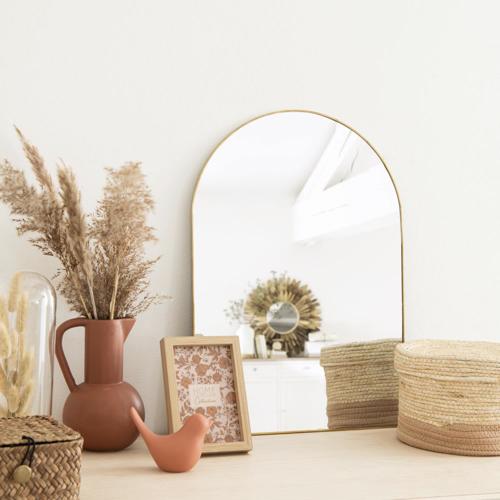 ou trouver deco murale pas cher miroir bord laiton