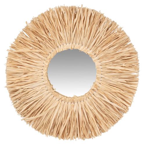 ou trouver deco murale pas cher miroir paille intérieur moderne bohème gypsy