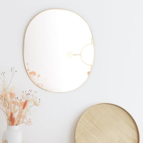 ou trouver deco murale pas cher miroir oval laiton moderne