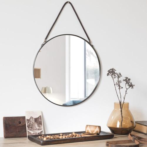 ou trouver deco murale pas cher miroir ron moderne encadrement noir