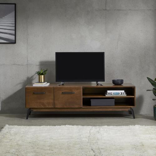 ou trouver meuble tv annees 50 portes et niche bois sombre