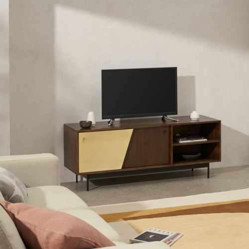 ou trouver meuble tv annees 50 bois et or portes coulissante et niches