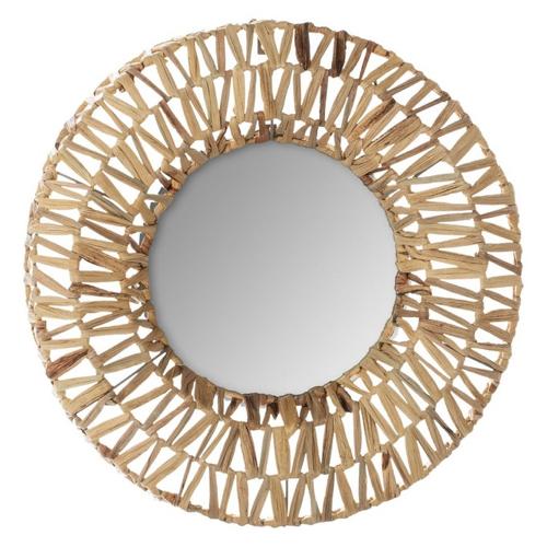 ou trouver miroir mural pas cher fibre végétale decoration salon séjour salle à manger entrée