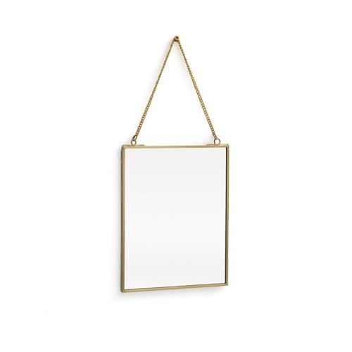 ou trouver miroir mural pas cher petit format rectangulaire chainette vintage laiton doré or