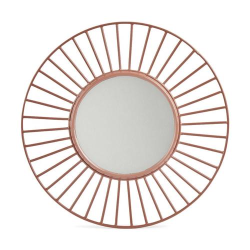 ou trouver miroir mural pas cher soleil laiton cuivré rosé