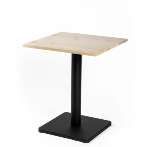 ou trouver petite table coin repas table bistrot bois pied central noir
