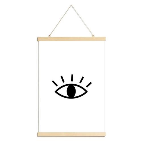 ou trouver poster deco pas cher dessin oeil simplifié décoration moderne noir et blanc chambre ado jeune adulte