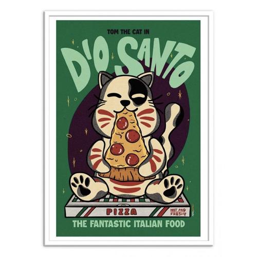 ou trouver poster deco pas cher illustration asiatiique japon chine chat pizza