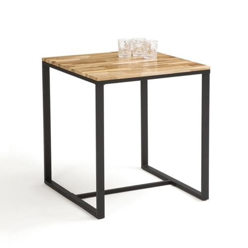 ou trouver table 2 places deco piètement métal plateau bois style industriel