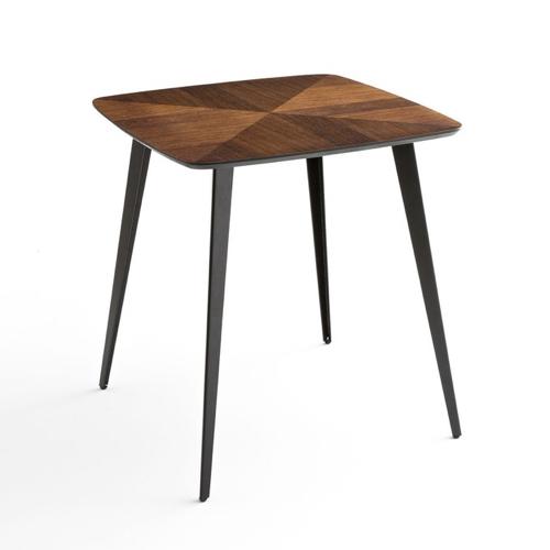 ou trouver table 2 places deco style mid century bois et noir 4 pieds