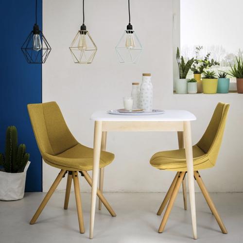 ou trouver table 2 places deco style scandinave bois et blanc pas cher