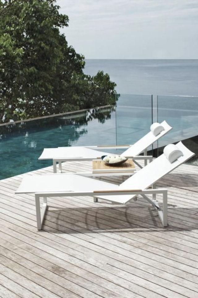 ou trouver transat bain de soleil jardin piscine terrasse bois confort vacances