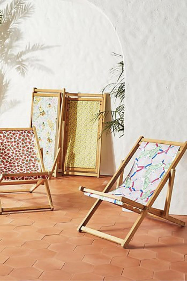 ou trouver transat bain de soleil jardin chilienne transat décoration toile couleur motif