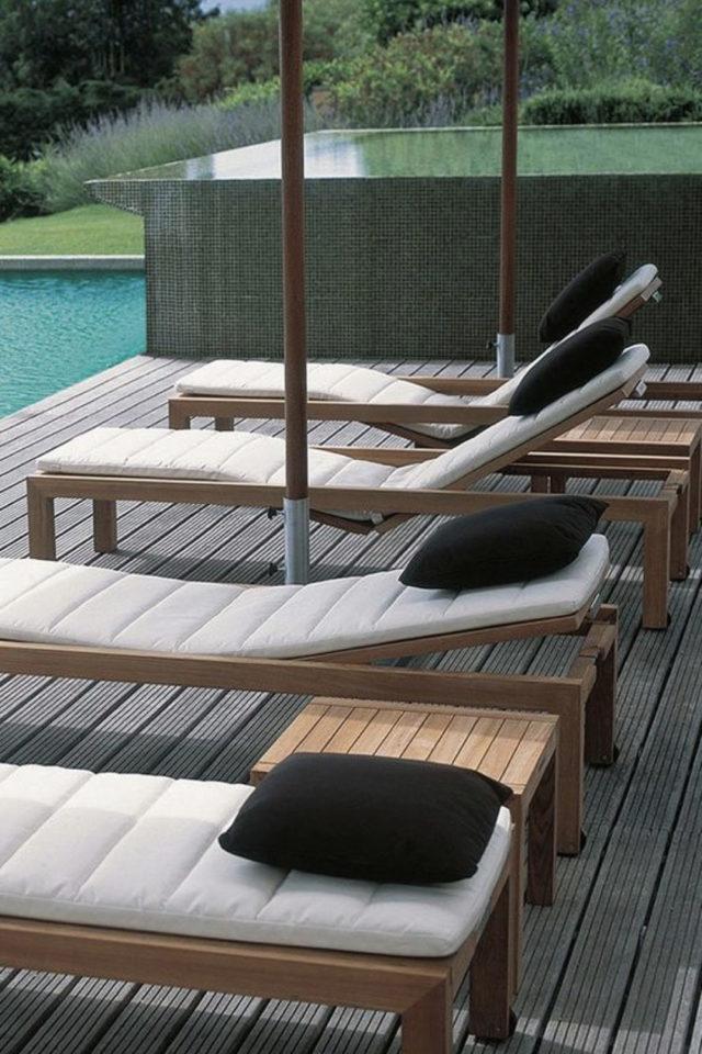 ou trouver transat bain de soleil jardin transat piscine vacances maison terrasse aménagement extérieur confort