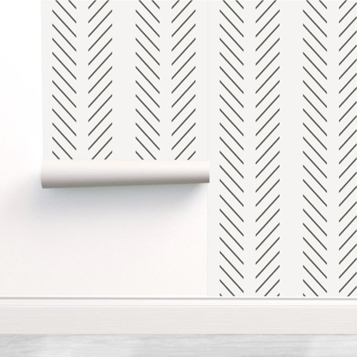papier peint stickers noir et blanc motif chevron