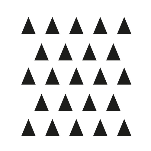 stickers noir et blanc triangle Made in France