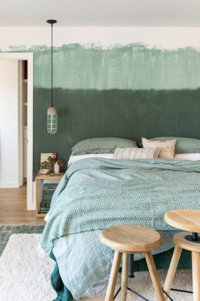 peinture murale originale exemple fond blanc du de couleur application irrégulière au rouleur chambre effet grunge