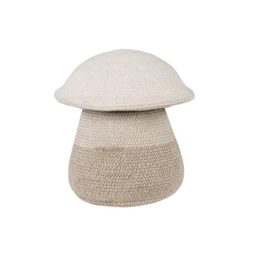 petit rangement enfant couleur corbeille en osier forme champignon ludique