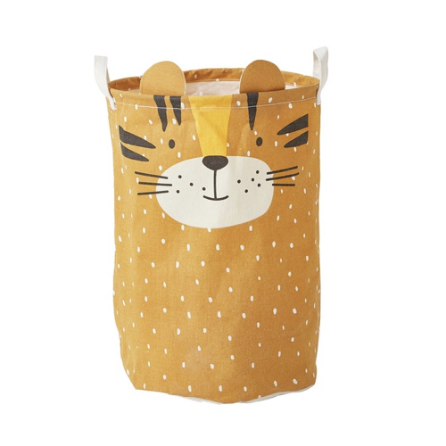 petit rangement enfant couleur 4 panier jouets jaune moutarde lion tigre