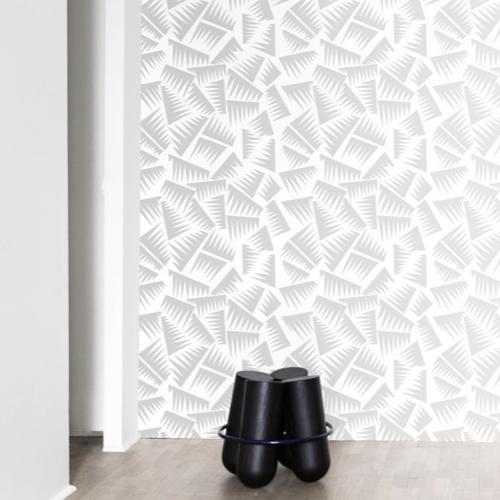 petite piece papier peint idee avstrait gris clair sur fond blanc
