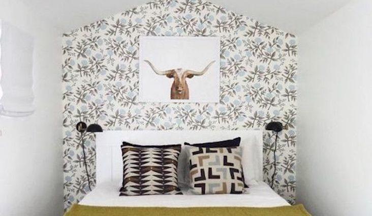 petite piece papier peint idee a copier motif inspiration décoration chambre salon séjour mobilier
