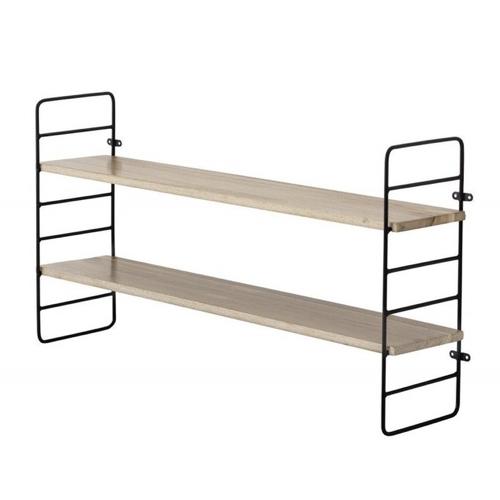 rangement deco etagere bois mural imitation string pas cher