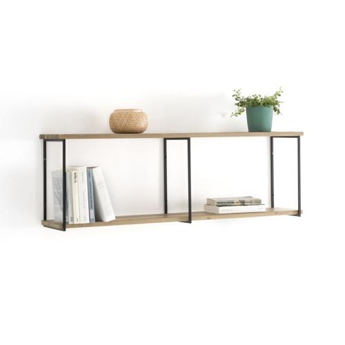 rangement deco etagere bois mural simple structure métal noir moderne