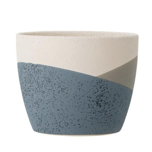 salle a manger deco style bord de mer cache pot bleu beige naturel