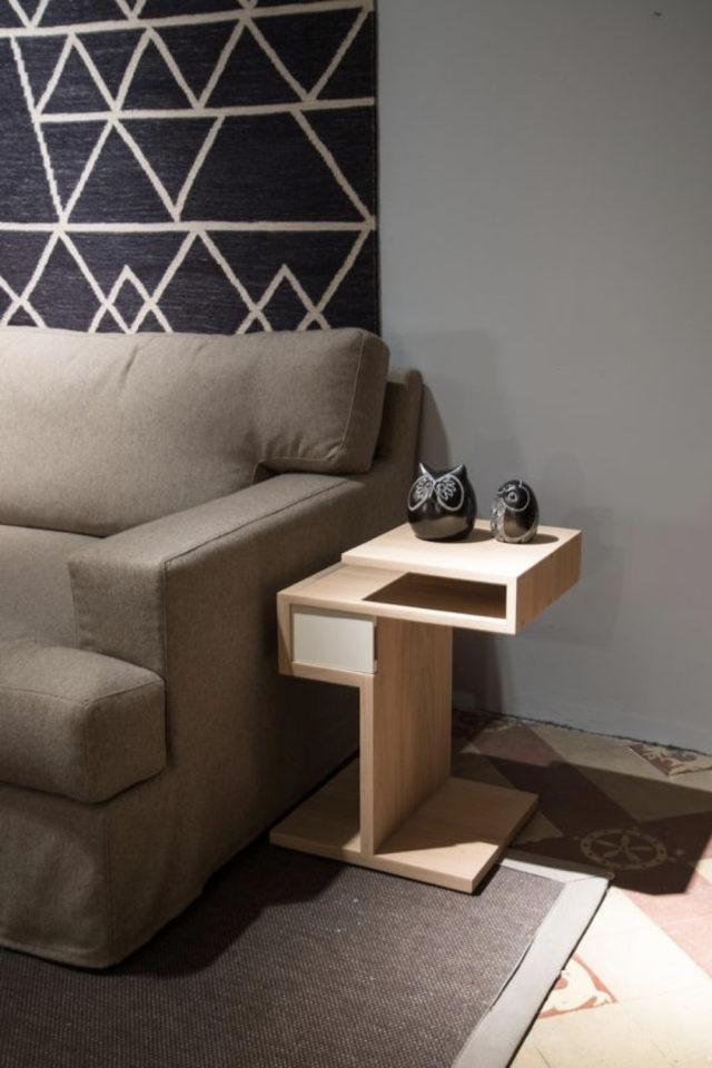 salon bout canape exemple tablette moderne et design salon séjour