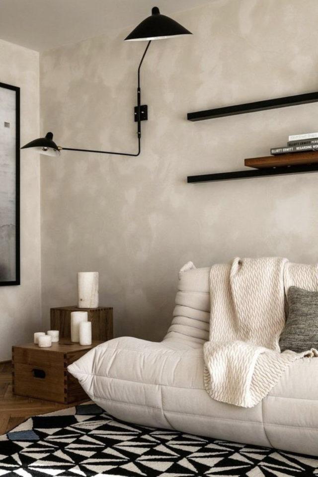 salon bout canape exemple meuble appoint petit rangement pratique