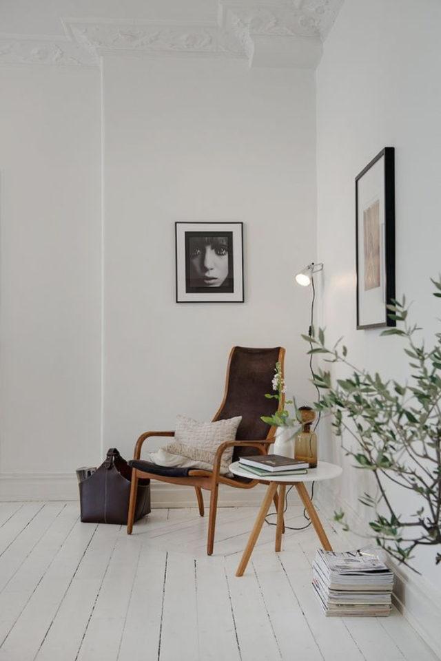 salon decoration style masculin exemple minimalisme blanc simple sobre essentiel