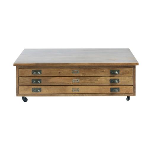 salon meuble deco styme masculin table basse style industriel casier imprimeur