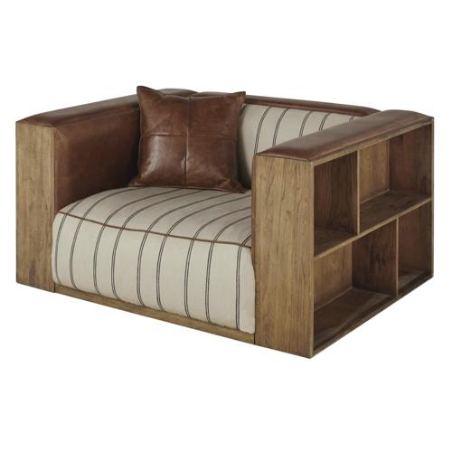 salon meuble deco style masculin fauteuil rangement étagère bois pratique style industriel