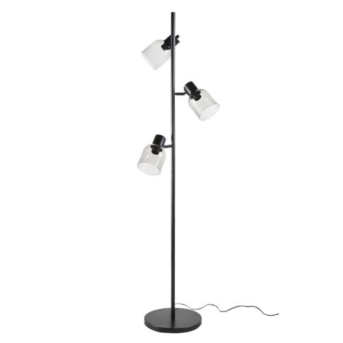 salon meuble deco styme masculin lampadaire 3 ampoule noir sobre