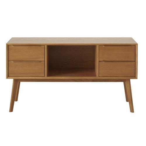 salon sejour mid century buffet enfilade bois niche petit modèle tiroir