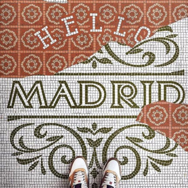sol mosaique nom ville style ancien Madrid