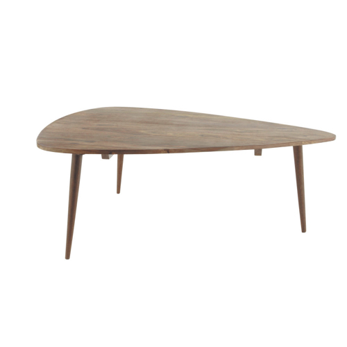 table basse style annees 50 forme triangle pieds en bois