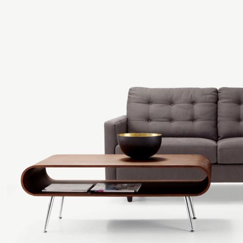 table basse style annees 50 niche arrondi design rétro années 60