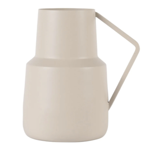vase fleur coupee printemps ete forme cruche couleur écru beige style slow deco slow intérieur slow living kinfolk scandicraft