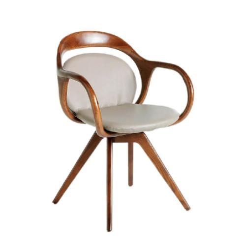 accessoire decoration masculine chambre chaise design vintage mid century effet cuir et tissus