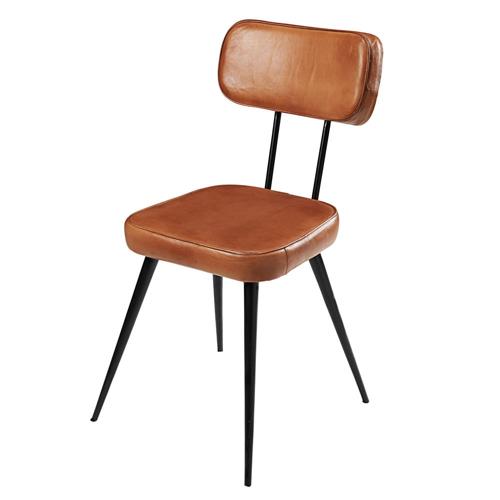 accessoire decoration masculine chambre chaise vintage cuir pieds compas rétro élégant