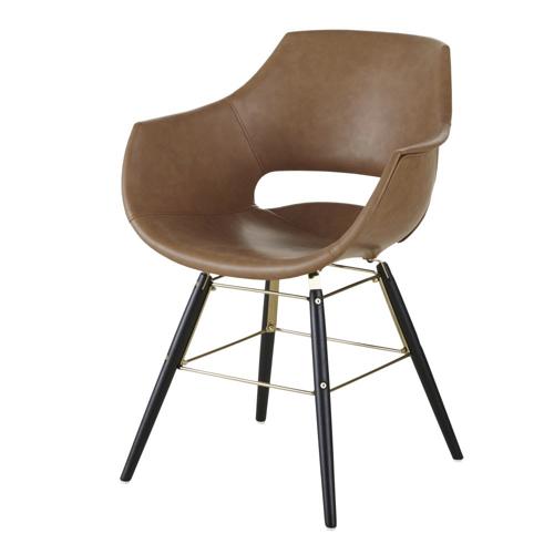 accessoire decoration masculine chambre chaise de bureau fauteuil cuir vintage mid century homme