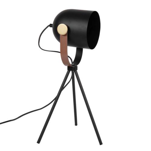 accessoire decoration masculine chambre lampadaire lampe de chevet noir trépied style industriel homme cuir