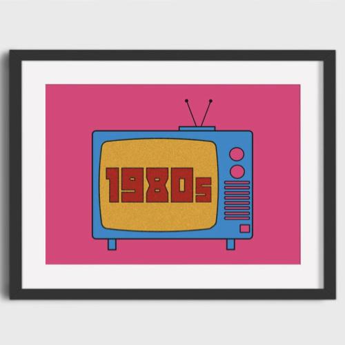 affiche poster culture rock decalee couleur pop années 80 télévision