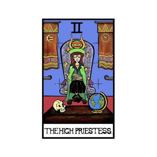 affiche poster culture rock decalee carte tarot Daria MTV dessin animé 90's