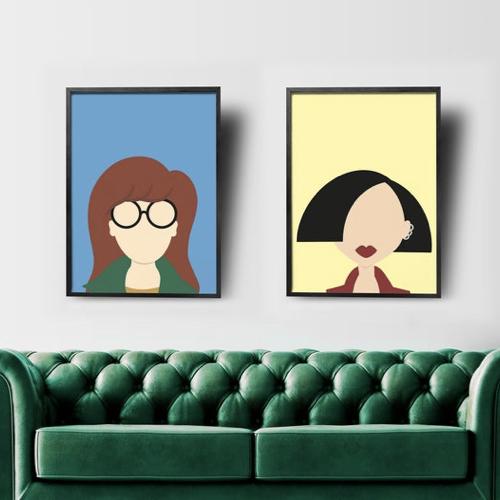 affiche poster culture rock decalee portrait Daria