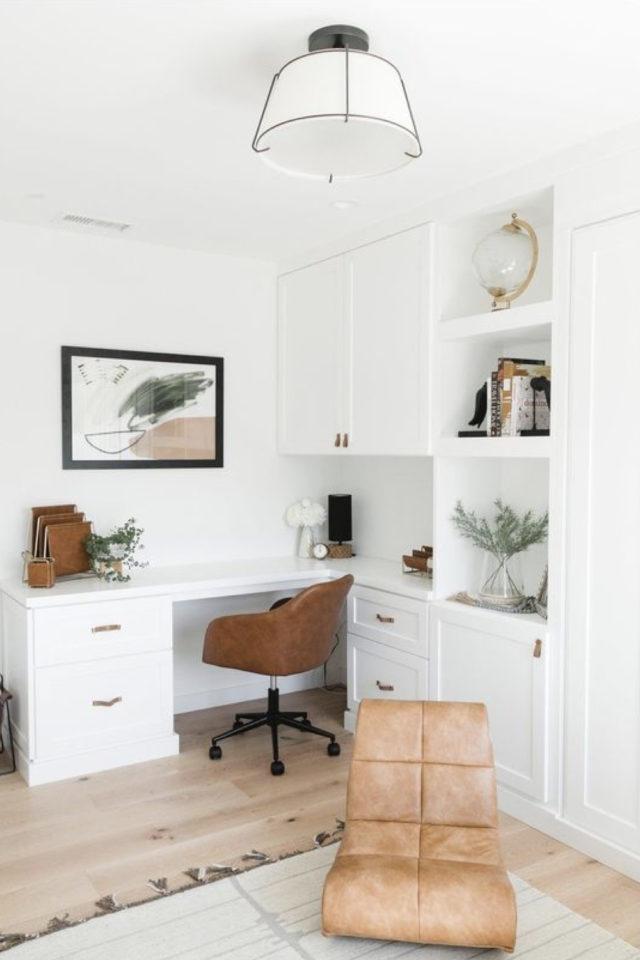 bien chez soi teletravail bureau salon mobilier sur mesure blanc pratique